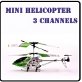 6020 Green RC Infra Micro 3 CH V Max Metal Frame Helicopter