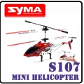 Red Syma S107 GYRO MiNi 3CH RC Helicopter RTF Metal Gift D5