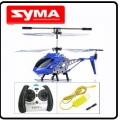 Blue Syma S107 GYRO MiNi 3CH RC Helicopter RTF Metal Gift D5