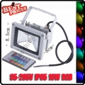 10W LED RGB Color Change Flood Light Lamp Remote Control AC85-265V