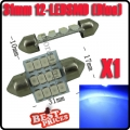 Car Blue Dome 3528 SMD 12 LED Interior Festoon Light Bulb Lamp 31mm DC 12V New