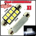 1Pcs 42mm 8 SMD 5050 LED Pure White Canbus Festoon Dome Roof Light Lamp Bulb 12V