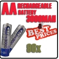 96 x AA NiMH Camera Rechargeable Battery for MP3 RC Toys