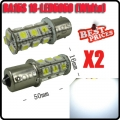 2X Car Pure White 1156 BA15S 18 SMD 5050 LED Tail Brake Interior Light Bulb 12V