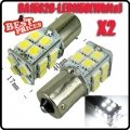 2X 1156 BA15S 7506 White 20 5050 SMD LED Rear Tail Turn Signal Light Bulb DC 12V