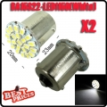 2Pcs 1156 BA15S P21W 1129 Car White 22 1206 SMD LED Tail Signal Light Lamp Bulb