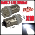 10X T11 BA9 BA9S T4W 233 1895 H6W White Car Auto 7 LED Side Light Lamp Bulb 12V