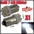 1 Pcs BA9s T4W 233 1895 White 7 LED Car Side light Lamp Bulb DC 12V NEW