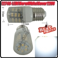 E27 3W 48 SMD LED High Power Energy Saving Warm White Bulb Lamp with Cover 220V