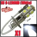1X H3 9 SMD LED Xenon White Car Auto Fog Head Driving Light Lamp Bulb 12V NEW