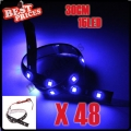 48 x 30cm 15 SMD LED Car Van Flexible Neon Grill Light Lamp Strip 12V Waterproof New