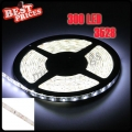 Waterproof Pure White 3528 SMD 300 LED 5M Flexible Lamp Light Strip Car 12V