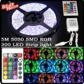 5M 300 LED 5050 Waterproof RGB SMD Flexible Tape Lamp Strip Light Car +IR Remote