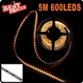 5M 600 LED 3528 Waterproof Warm White SMD Epoxy Flexible Lamp Strip Light 12V