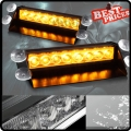 Car Truck Amber 8 LED Dash Strobe Warning 3 Mode Flash Emergency Light DC 12V