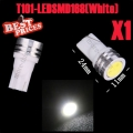 1pcs White 1W T10 168 194 LED SMD Wedge Light Lamp Bulb