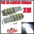 10X T10 168 194 W5W White 28 SMD LED Wedge Light Bulb Lamp 12V for Car RV Light