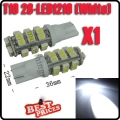 T10 194 168 501 Pure White 1210 SMD 28 LED W5W Car Side Wide Tail Light Bulb NEW