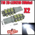 2X T10 194 168 501 921 W5W 28 LED 1210 SMD Car Side Wedge Light Bulb Lamp White