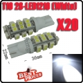 20X T10 168 194 W5W White 28 SMD LED Wedge Light Bulb Lamp 12V for Car RV Light