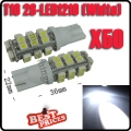 50X T10 168 194 W5W White 28 SMD 1210 LED Car RV Wedge Light Bulb Lamp 12V New
