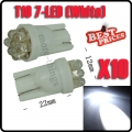 10x Car 194 158 168 501 T10 W5W 7 LED SMD White Car Side Wedge Light Lamp Bulb