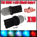 10X T10 W5W 194 1 Led Multicolour Flash Car Wedge Side Dashboard Light Lamp Bulb