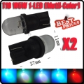 2 X T10 W5W 194 1 Led Multicolour Flash Car Wedge Side Dashboard Light Lamp Bulb