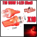 10X T10 W5W 158 168 194 501 Red LED Car Auto Side Wedge Light Bulb Lamp 12V