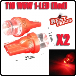 2X T10 W5W 158 168 194 501 Red LED Car Auto Side Wedge Light Bulb Lamp 12V