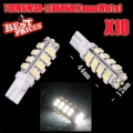 10Pcs Xenon White T10 168 194 501 W5W 38 SMD LED Wedge Side Light Lamp Bulb 12V
