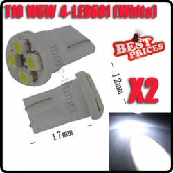 2 pcs New T10 White 4 3528-SMD LED Wedge Tail Car Light Bulbs 194 168 W5W 12V