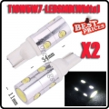 2x T10 168 194 501 921 W5W 7 SMD 4W LED White High Power Light Bulb Lamp 12V New