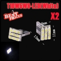 2x T10 194 168 501 W5W 9 SMD LED Pure White Wedge Side Light Lamp Bulb12V New