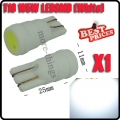 T10 501 W5W 1W LED Ceramic Shell White HID Interior Sidelight Light Lamp Bulb