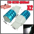 2Pcs T20 3156 W21W 7W LED Cree Q5 High Power Backup Reverse Light Backwards Blue