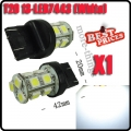 1X T20 7443 Car White 13 SMD LED Stop Tail Brake Turn Backup Light Lamp Bulb 12V