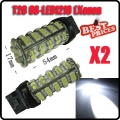 2 Pcs Xenon White 7443 7440 T20 68 LED SMD Tail Brake Light Lamp Bulb New