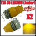 2X T25 3156 Car 39 LED Amber Tail Brake Turn Indicator Light Lamp Bulb 12V New