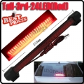 24 LED Red Third 3rd Car Auto Rear Stop Brake Tail Light Lamp Pad DC 12V New