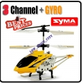 Syma Yellow S107 Alloy Mini RC Helicopter RTF GYRO 3CH
