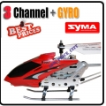 Syma Red S107 Alloy Mini RC Helicopter RTF GYRO 3CH