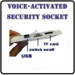 HOME WALL SOCKET SPY Voice-activated HIDDEN CAMERA DVR