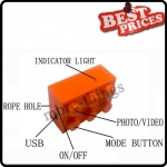 Orange Super Small Camera CHOBi CAM Large Lego Block Style Toy Camera Japan Mini Camera