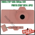 Pink Mini Digital Camera Five Colors as Camera USB Direct Micro SD Movie