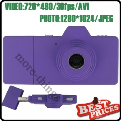 Purple Mini Digital Camera Five Colors as Camera USB Direct Micro SD Movie