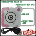 Pink Novelty Unique Colorful Mini DV Cam DVR 4-Special Effects Rotatory Toy Camera