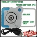 Blue Novelty Unique Colorful Mini DV Cam DVR 4-Special Effects Rotatory Toy Camera