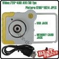 Yellow Novelty Unique Colorful Mini DV Cam DVR 4-Special Effects Rotatory Toy Camera