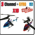 10 x 3.5 Channel GYRO Metal RC16cm Helicopter + USB cable + Blade